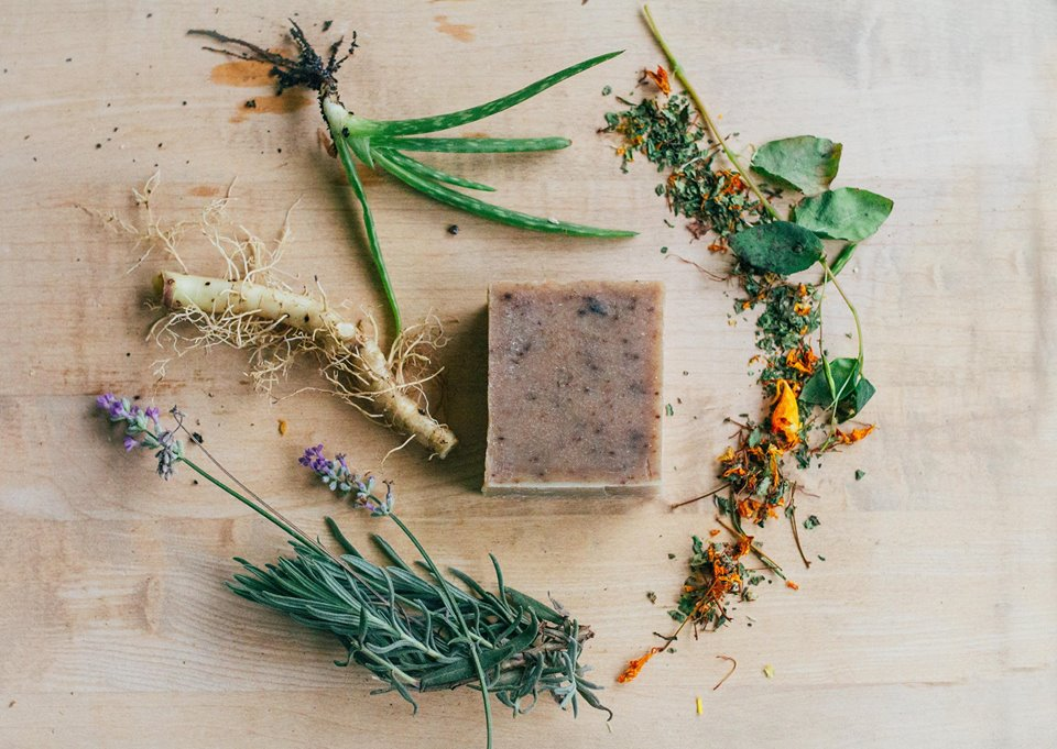 herb infused aloe soap